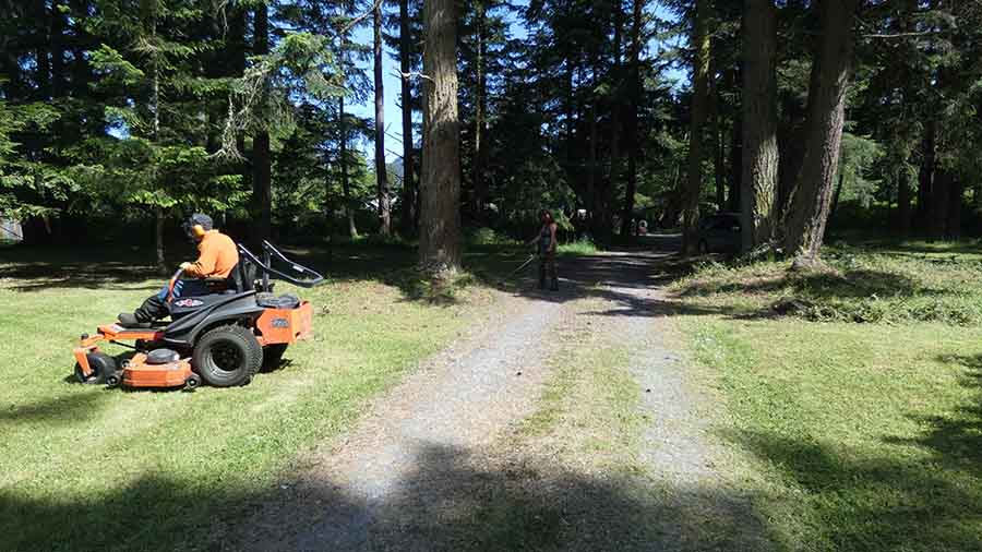 Orcas Island lawn maintenance mowing weed whacking property maintenance